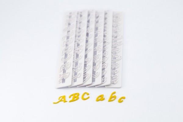 Buchstaben und Ziffern Ausstecher (kursiv)