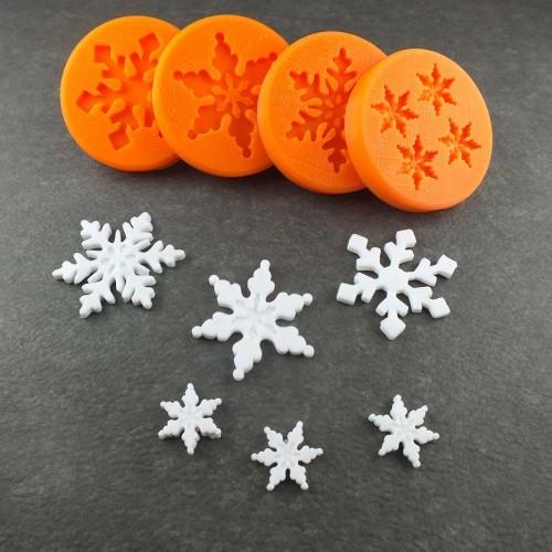 Schneeflocken Set klein Silikonform