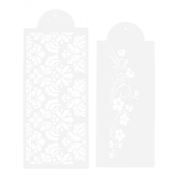 Dekor-Schablonen-Set Blumenranke 2-teilig