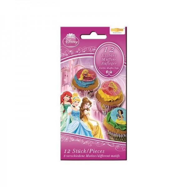 12 Zucker-Muffinaufleger Disney Princess