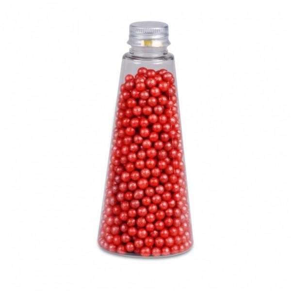 Streudekor Perlen Glimmer Rot