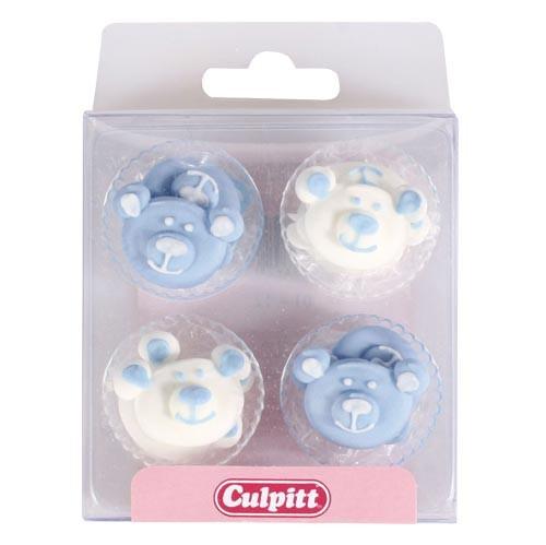 Culpitt, Zuckerdeko Bär Babyblau/Weiß, 12 Stk