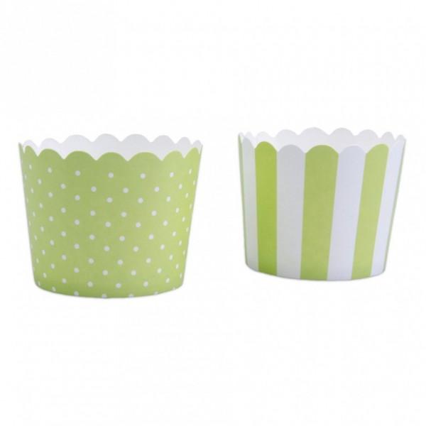 Cupcake Hellgrün-Weiß