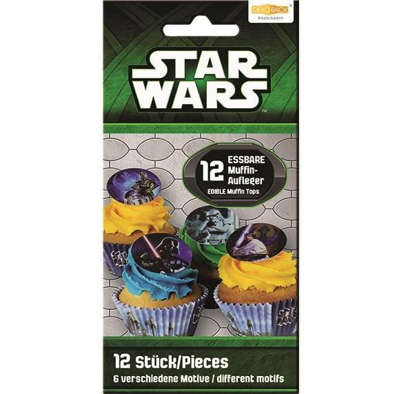 12 Zucker-Muffinaufleger Star Wars
