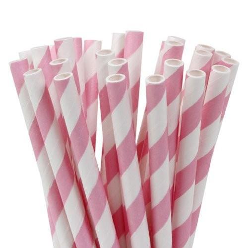 HOM Lolly Pop / Pop Cake Sticks 15cm Stripes Soft Pink
