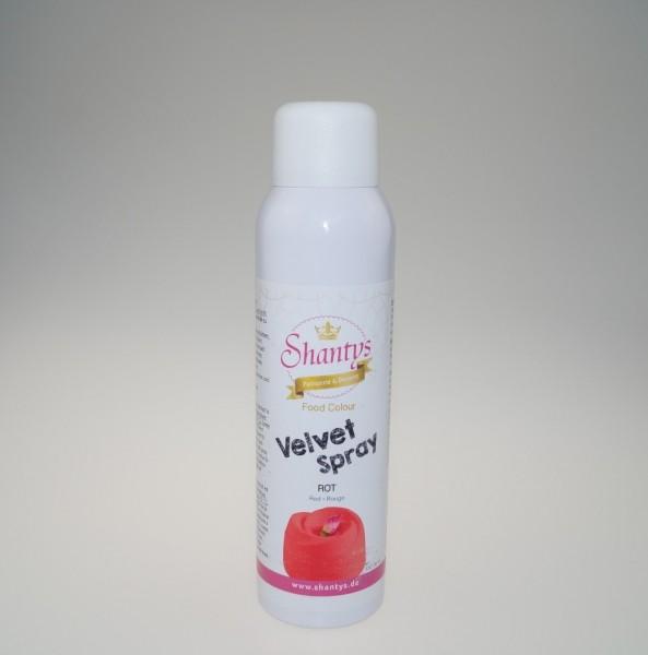 Kakaobutter-Farbspray VELVET / SAMT rot - 150 ml