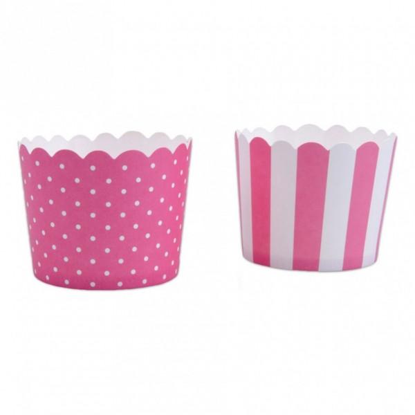 Cupcake Pink-Weiß