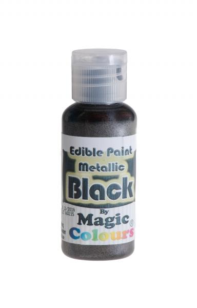 Magic Colours, Essbare Metallicfarbe - Schwarz 32 g