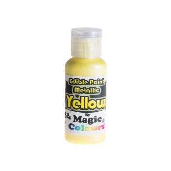 Magic Colours, Essbare Metallicfarbe - Gelb, 32 g