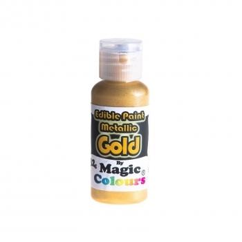 Magic Colours, Essbare Metallicfarbe - Gold, 32 g