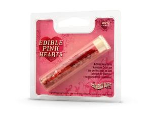 essbare Herzen Pink - (Rainbow Dust)