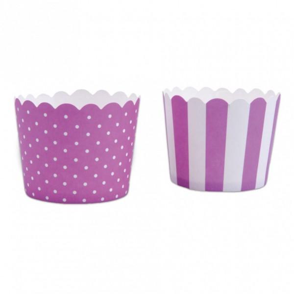 Cupcake Violett-Weiß