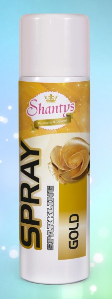 Farbspray Glitzer GOLD - 50 ml - (Shantys)