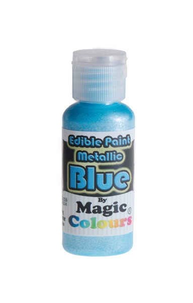 Magic Colours, Essbare Metallicfarbe - Blau, 32 g