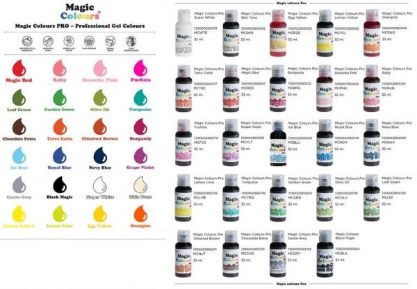 10 Magic Colours, Gelfarbe - freie Farbauswahl