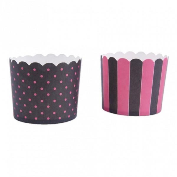 Cupcake-Backformen Schwarz-Rosa