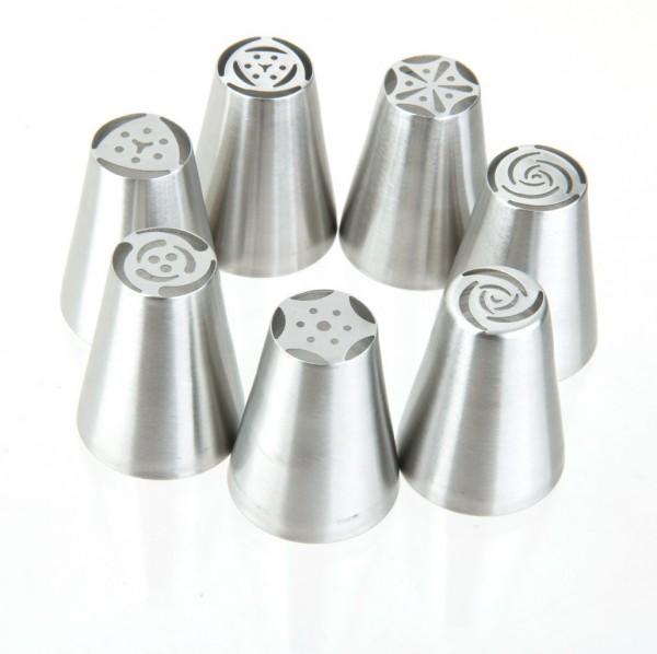 Russische Spritztüllen Set (7 Stück)