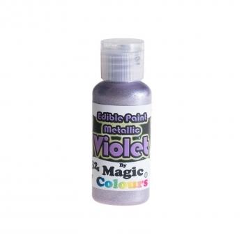 Magic Colours, Essbare Metallicfarbe - Lila, 32 g