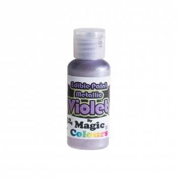 Magic Colours, Essbare Metallicfarbe - Lila, 32 g