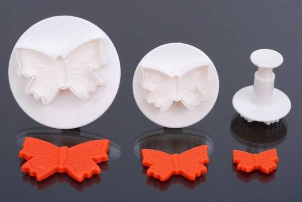 Schmetterling Auswerfer 3er Set, 3/4,5/6cm-Copy-Copy